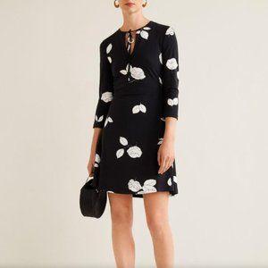 MANGO Cord textured Black dress